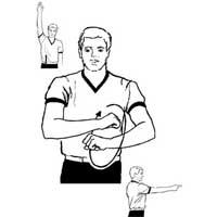داور بسکتبال، اعلام تخلف گام های اضافه یا رانینگ به میز داوران بسکتبال